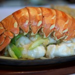 Lobster Tail with Ginger and Shallots